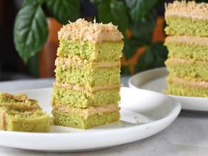 Best Vegan Pandan Gula Melaka Sponge Cake Recipe | Delia.v Life
