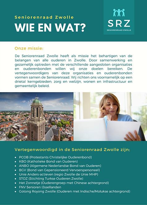 Vacature bestuurslid Seniorenraad Zwolle