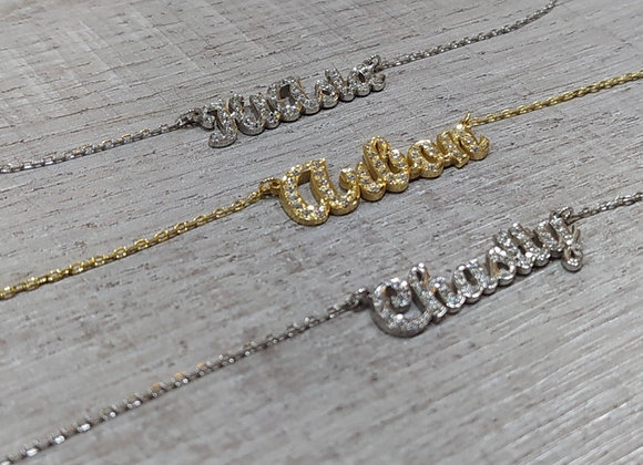 Diamond Personalized Name Necklace ($95-$140)