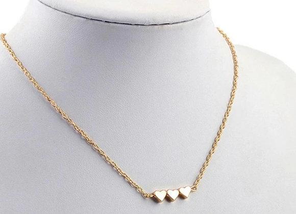 Trois Heart Necklace