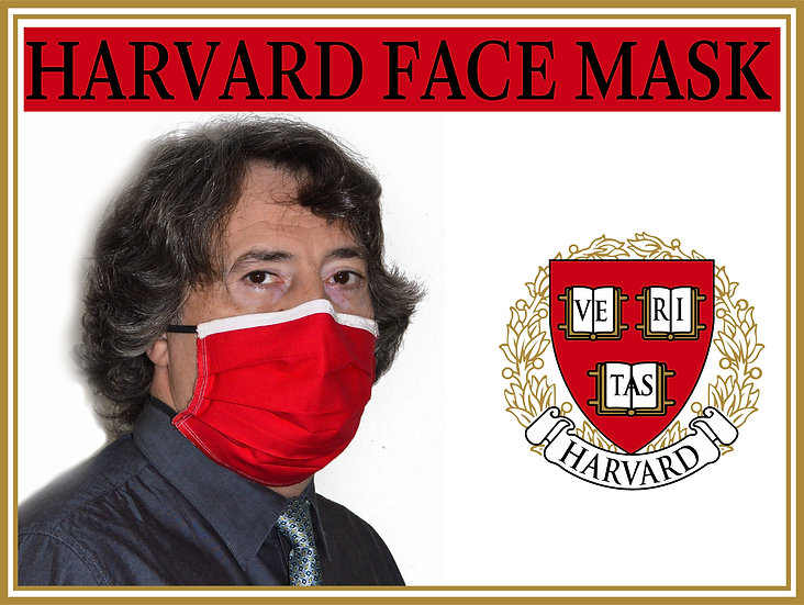 HARVARD CRIMSON FACE Mask Ivy League  Perfectly Designed Quality Cotton Nose Wir