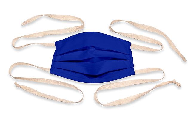 Fabric ties Face Mask - Royal blue