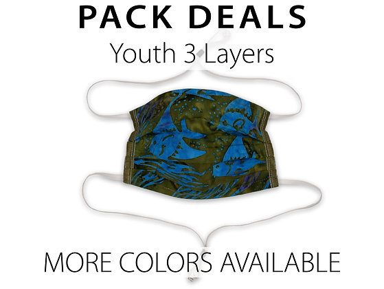 Pack Deal Youth Masks 3 Layers