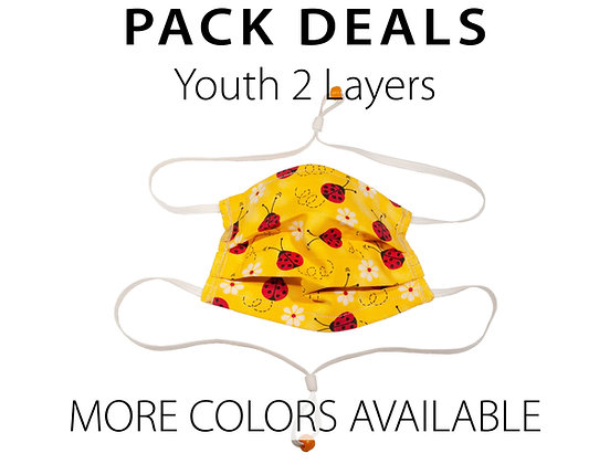 Pack Deal Youth Masks 2 Layers