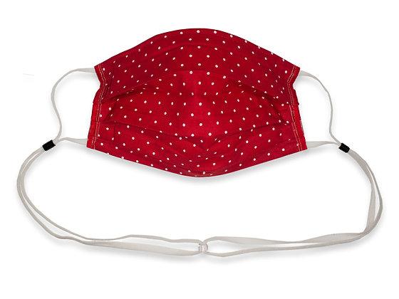 Lanyard Mask Red Polka dot