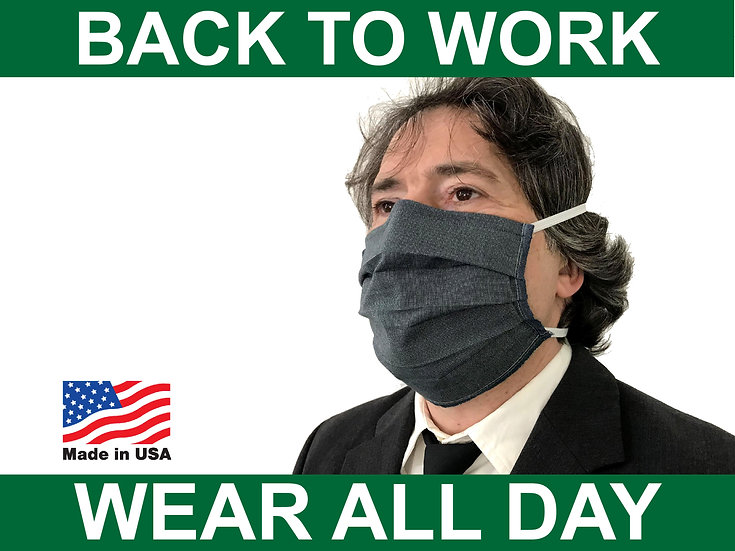 Professional Face Mask Elastic over the head for Work Well Made Unisex
