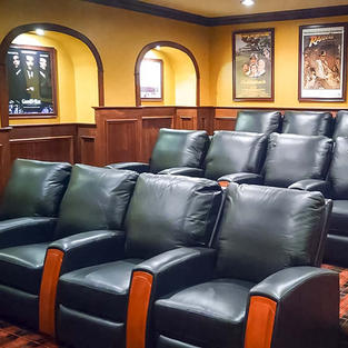 Home Cinema Mahogany Panels and Sound System
