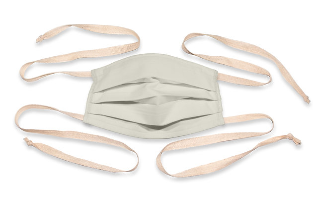 Fabric ties Face Mask - Parchment