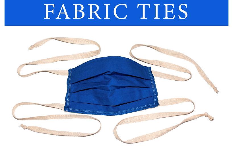 Fabric ties face mask