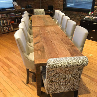 Conference Table from Reclaimed Lumber