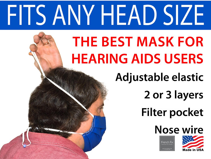 Best Face Mask for Hearing Aids Compatible, One Size Fits All