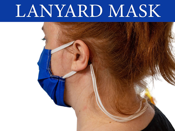Face Mask Lanyard Attached, Super Soft Adjustable Ear Loops