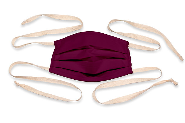 Fabric ties Face Mask - Plum