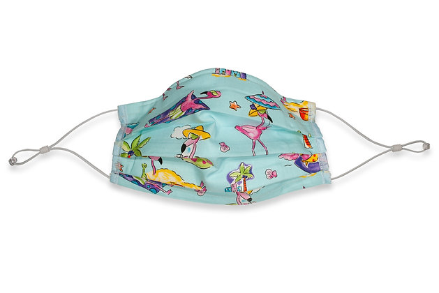 Over the Ears Face Mask - Flamingo