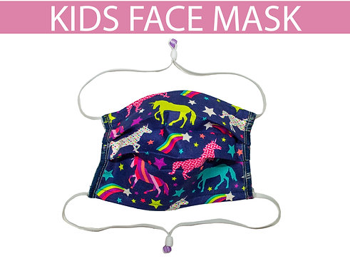 Kids Face Mask Elastic Straps Adjustable Behind Head