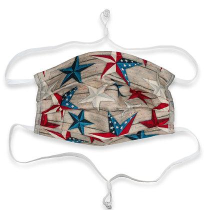Adjustable over head mask -Patriotic