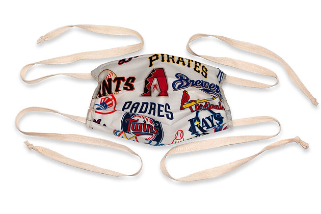 Fabric ties Face Mask - Baseball