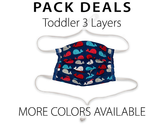 Pack Deal Toddler Masks 3 Layers