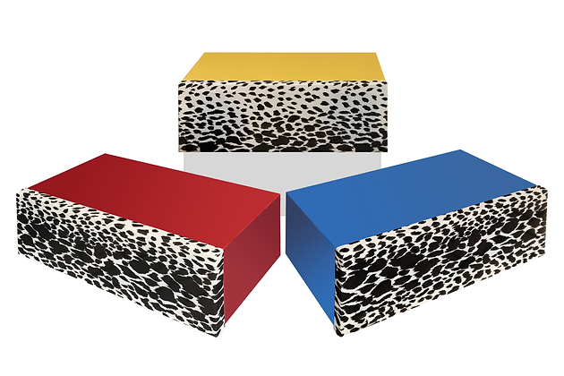 Bluetooth speaker bold colors and Leopard front