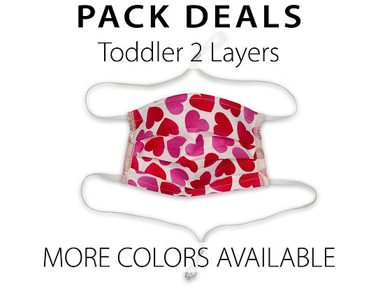 Pack Deal Toddler Masks 2 Layers