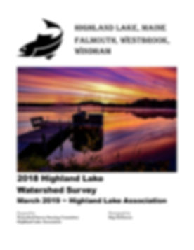 2018 Highland Lake Watershed Survey Repo