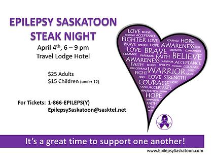 epilepsy saskatoon steak night poster im