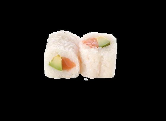 California white roll saumon avocat