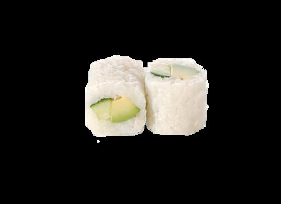 California white roll légumes marinés, riz aux herbes