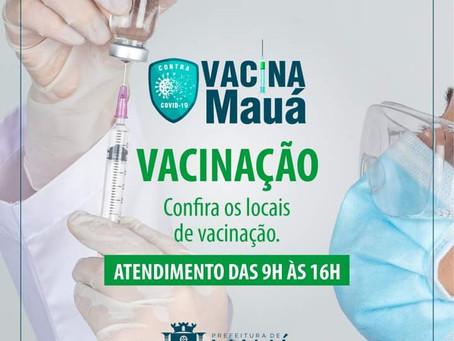 Mauá inicia a vacinação de idosos a partir de 72 anos nesta sexta-feira