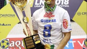 Well Pereira morador de Mauá, conquista o título de campeão da liga nacional de futsal 2018.
