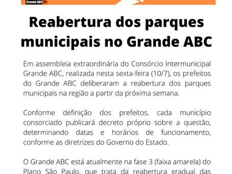 Reabertura dos parques municipais no Grande ABC