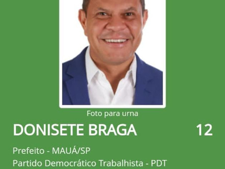 Donisete tem candidatura deferida pela justiça eleitoral.