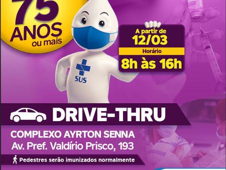 Ribeirão Pires inicia vacinação dos idosos 75+
