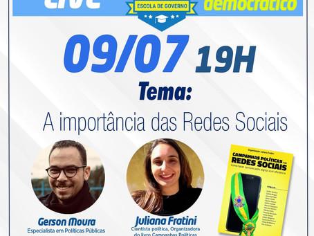 Live sobre o espaço democrático nas redes sociais reúne especialistas políticos.