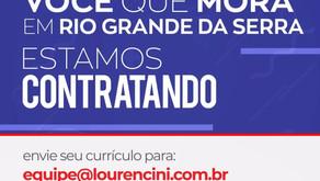 Lourencini de Rio Grande da Serra abre vagas de emprego