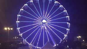 Chegou o momento tão esperado: a roda gigante inaugurou! 🎡