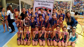 Equipe de ginastas de Ribeirão Pires conquistam 3º lugar.