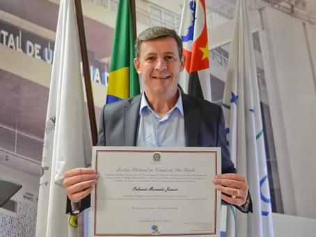 Orlando Morando é diplomado  prefeito reeleito  de São Bernardo do Campo.