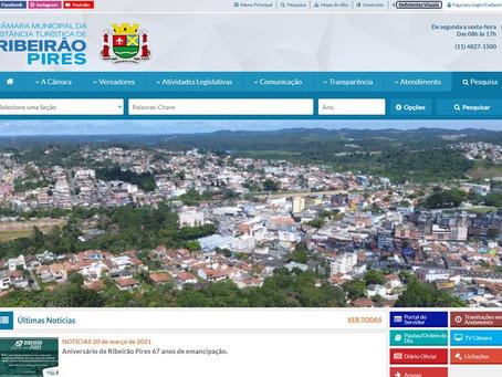 A Câmara Municipal  de Ribeirão Pires lança seu novo site com mais inclusão e acessibilidade