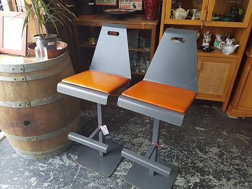 Industrial steel bar stools