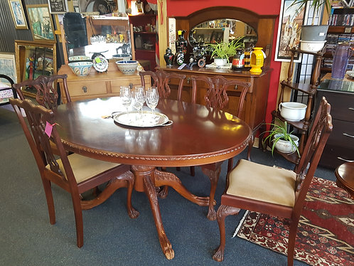 Carved NZ made dining suite