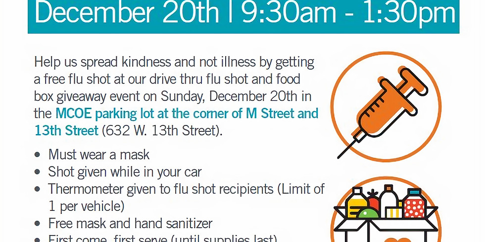 Drive Thru Flu Shot & Food Box Giveaway