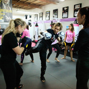 Teaching self-protection skills providing women's programs, taught by women instructors. Programs include fitness through Krav Maga and programs to counter domestic violence.