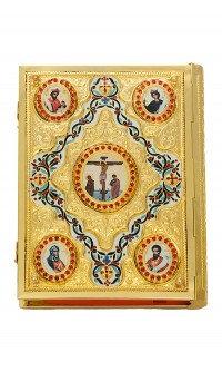 Ευαγγέλιο Σκαλιστό Σμάλτο (Ρόμβος) Επίχρυσο Κ(102-04)