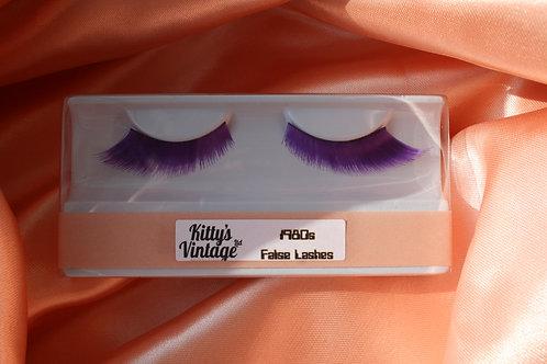 1980s False Eyelashes - Purple