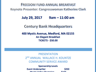 Congresswoman Clark to Speak at Freedom Fund Breakfast