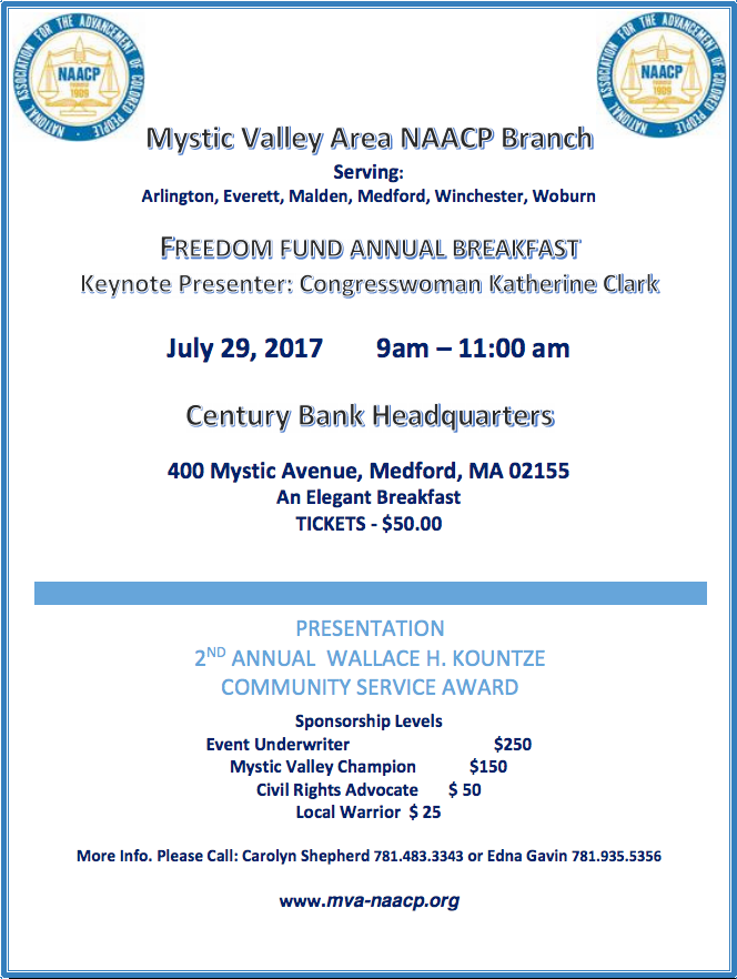 freedom fund flyer 2017 - mystic valley area branch NAACP