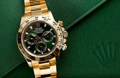 Rolex-Daytona-yellow-gold-green-dial-116