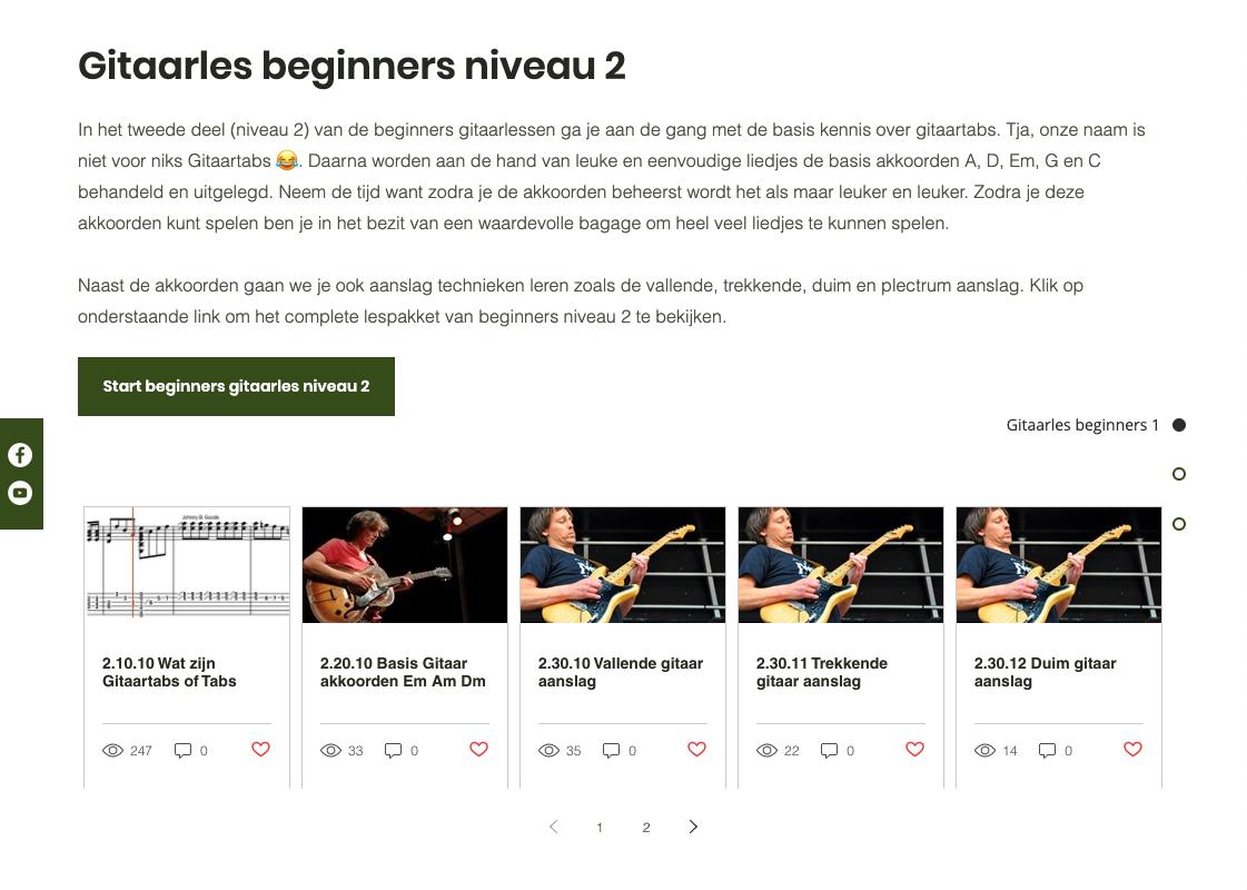 Beginners gitaarles 2