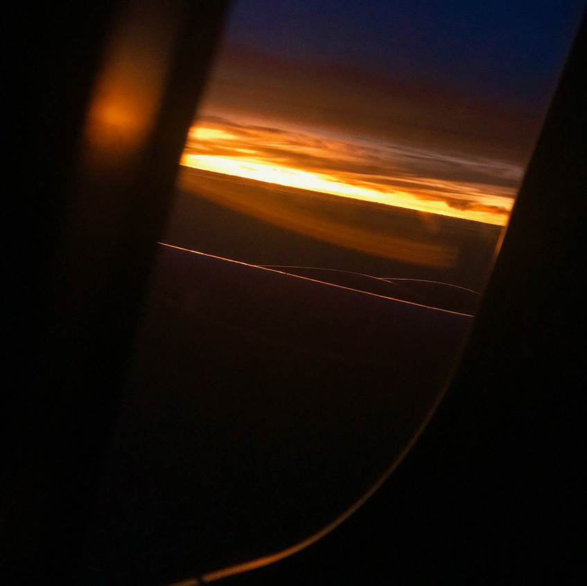 Sunrise over South America from my window seat